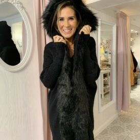 Cardigan Faux Fur black