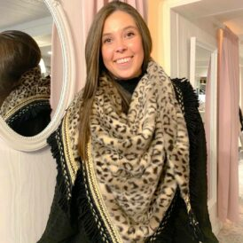 Scarf Triangle brown leopard