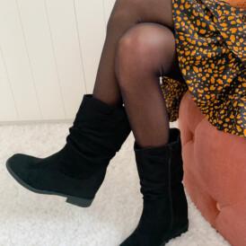 Shoes boots suede black short