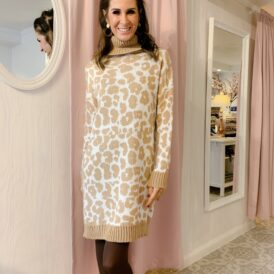Comfy dress Leo beige