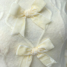 Sweater suede bow