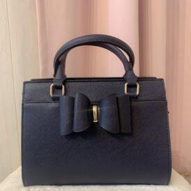Little bow handbag dark blue