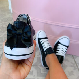 Sneakers bow black