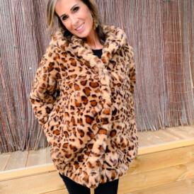 Jacket leopard teddy