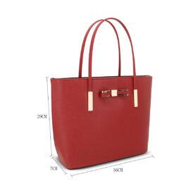 Bow handbag red