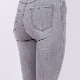 High waist trousers grey jeans