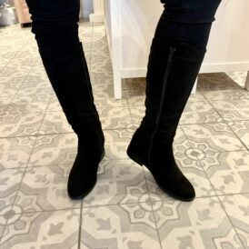 Shoes boots suede black