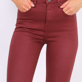 High waist trousers bordeaux