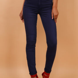 High waist trousers dark blue