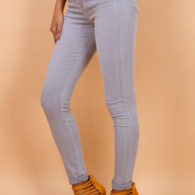 High waist trousers grey