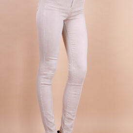 High waist trousers beige