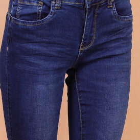 High waist trousers blue jeans