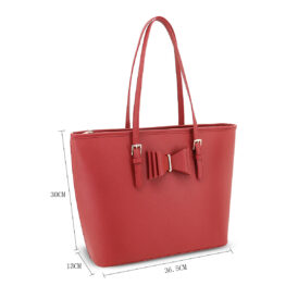 Bow shopper red