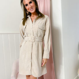 Dress Corduroy light beige