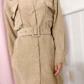 Dress Corduroy light brown