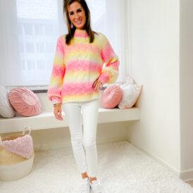 Sweater Pink rainbow