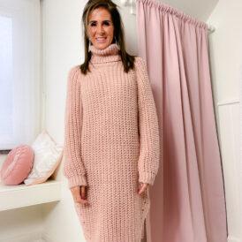 Sweaterdress Ellis pink