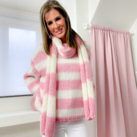 Sweater & Scarf Amy pink