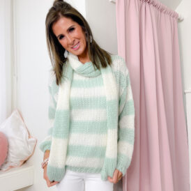 Sweater & Scarf Amy mint green