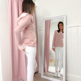 Sweater Fleur pink