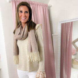 Scarf taupe