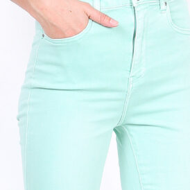 High waist trousers pastel aqua green