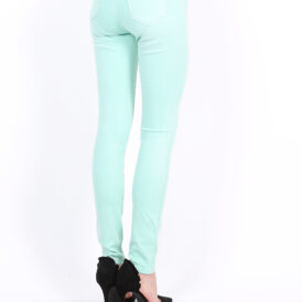 High waist trousers Toxik pastel aqua green