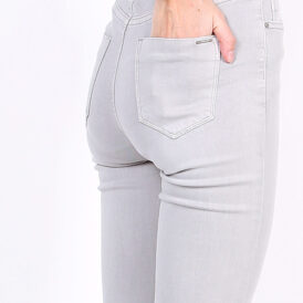 High waist trousers Toxik light grey