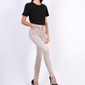 High waist trousers Toxik beige