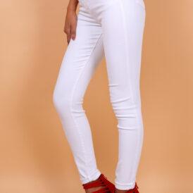 Trousers high waist Toxik white