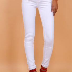 High waist trousers white