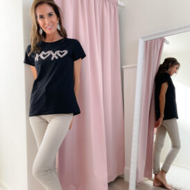 T-shirt XoXo black