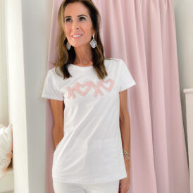 T-shirt XoXo white