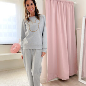 Comfy Set Mickey lightgrey