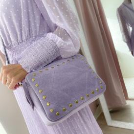 Handbag Suede Lila