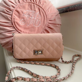 Handbag leather pink