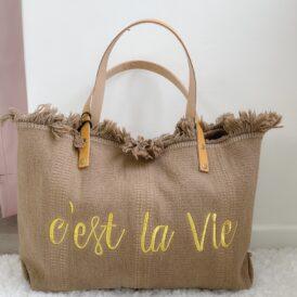 Beachbag C'est La Vie Taupe
