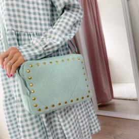 Handbag Suede mint green