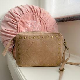 Handbag Suede beige