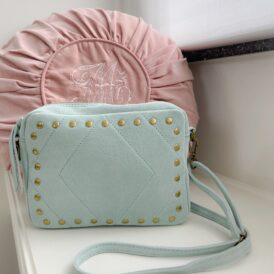 Handbag Suede mint green
