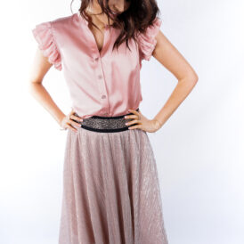 Maxiskirt Shiny Pink