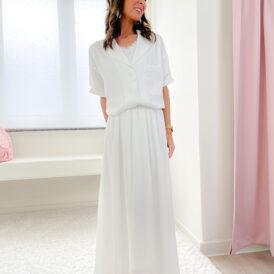 Maxiskirt Silky White