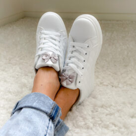 Sneakers grey bow