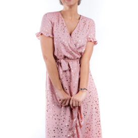 Maxidress Stars Dusty Pink