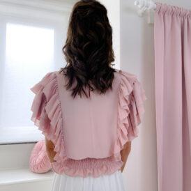 Blouse Ruffle Pink