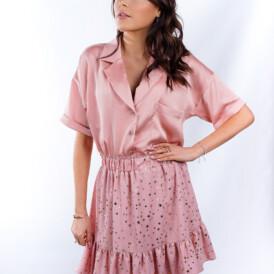 Blouse Silk Dusty Pink