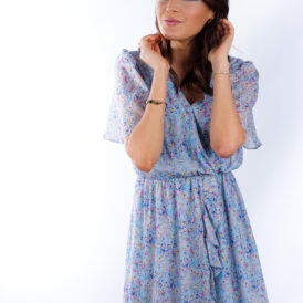 Dress Flowers Light Blue