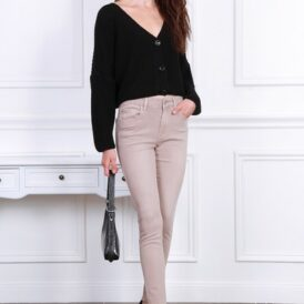 High waist trousers Toxik light brown