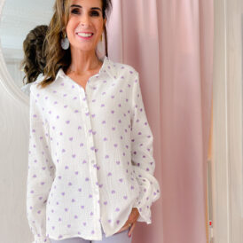 Blouse Little Hearts Lila