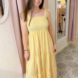 Maxidress Emma yellow